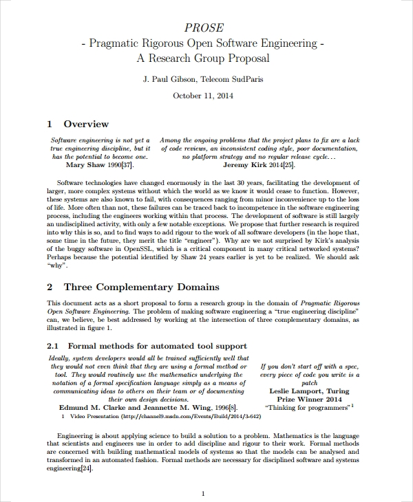 research group proposal