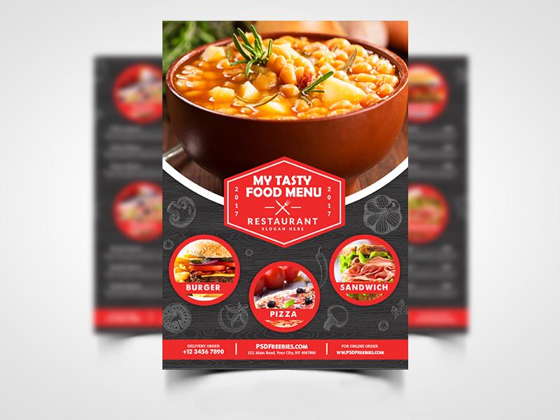 restaurant food menu flyer 1