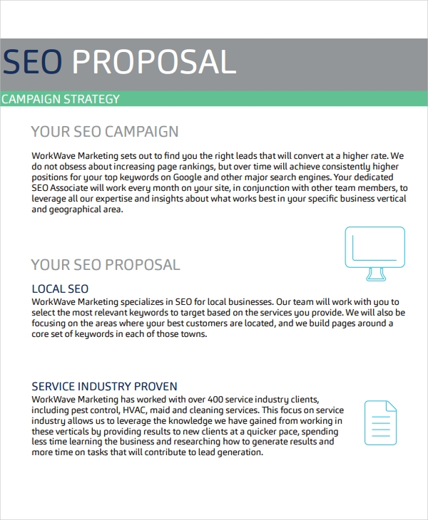 seo business proposal