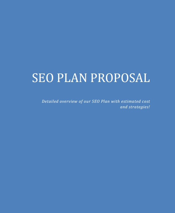 seo plan proposal