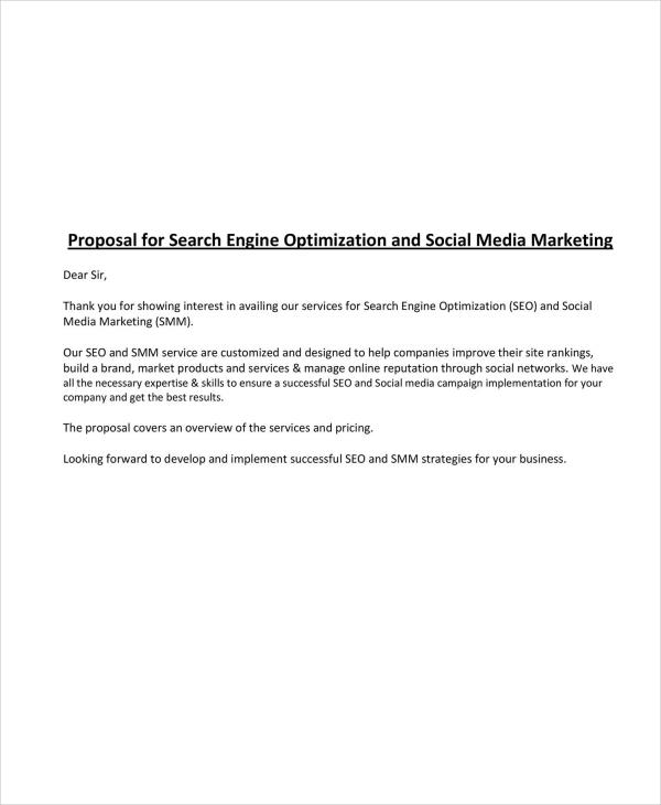 seo and social media marketing proposal