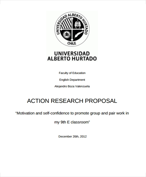 simple action research proposal
