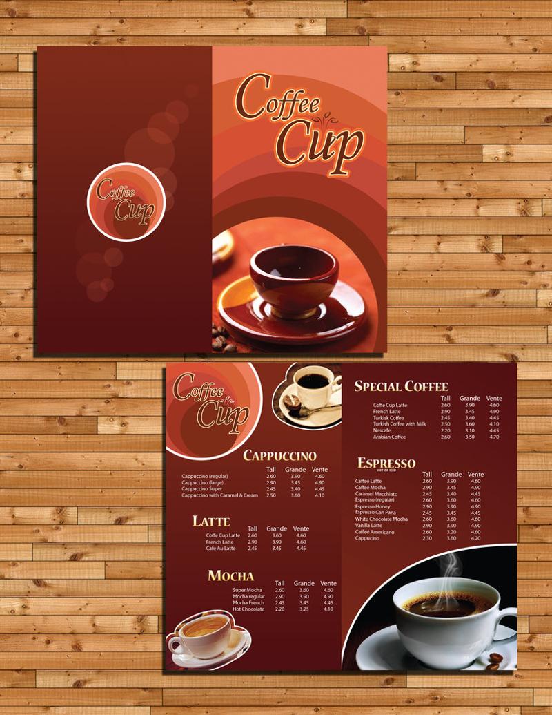 simple coffee menu design
