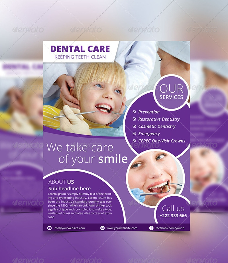 simple dental flyer