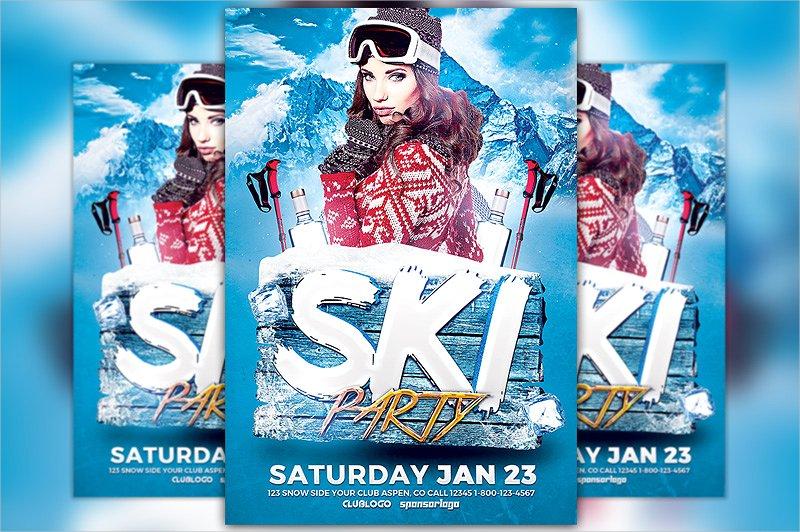 ski party flyer