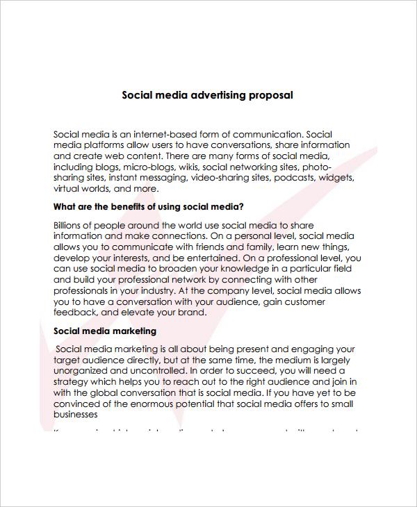 social media advertising proposal
