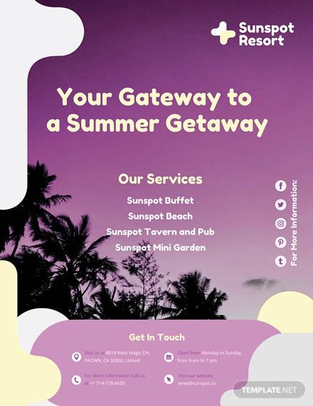 summer flyer template1
