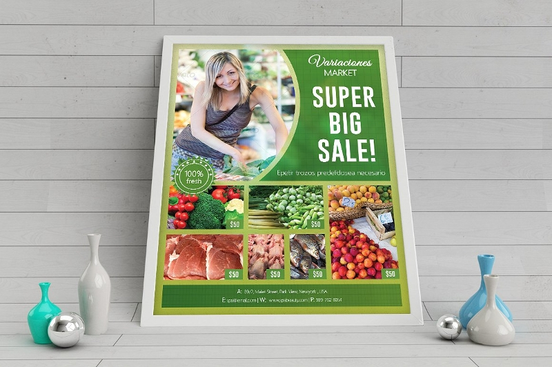 supermarket product promotion flyer