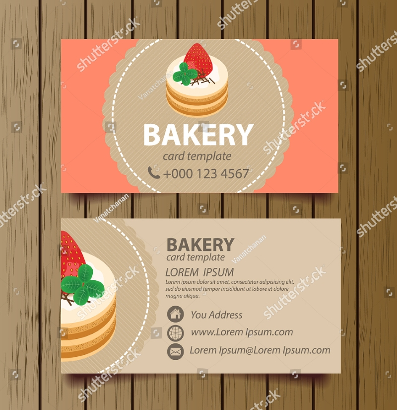 16 bakery business card designs examples psd ai vector eps delicious bakery business card reheart Gallery