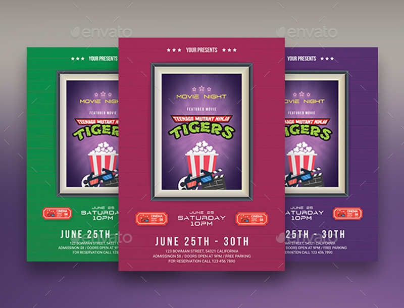 tiger movie night flyer