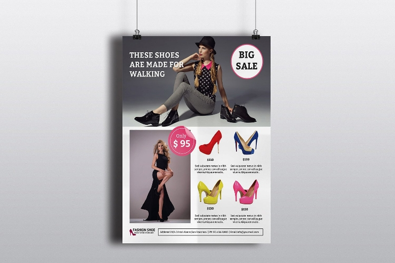 trendy fashion product promotional flyer