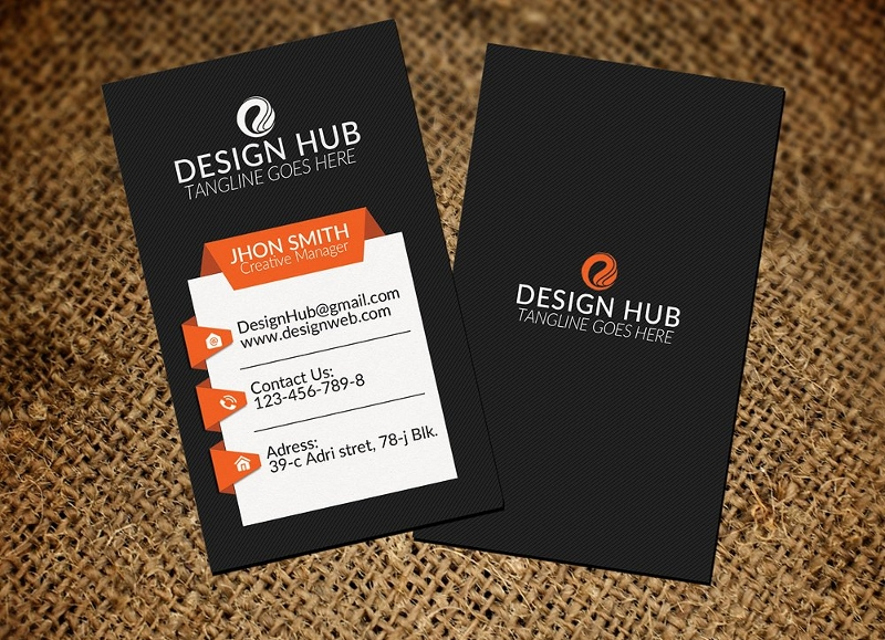 vertical marketing business card template