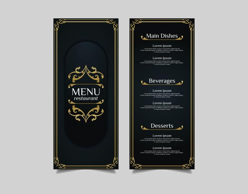 vintage art deco menu