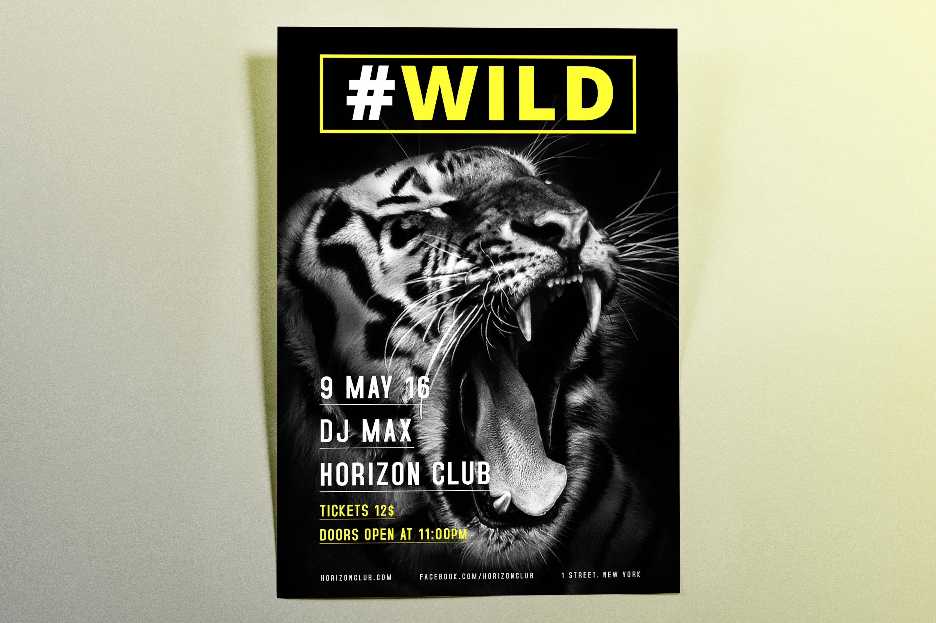 wild club flyer template