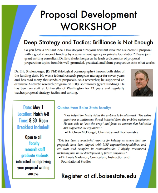11+ Workshop Proposal Examples - PDF, DOC   Examples