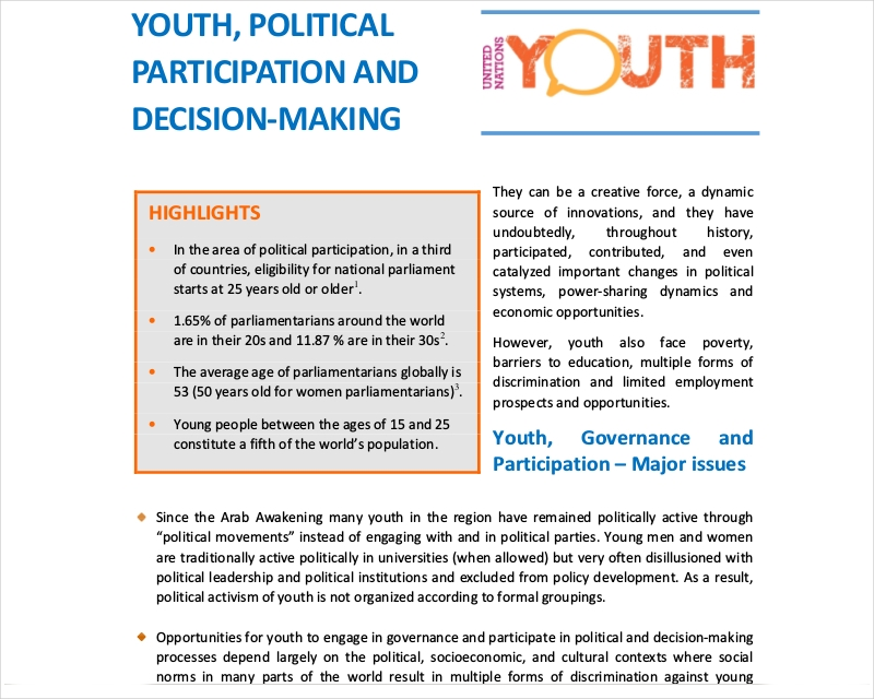 Youth Political Participation Speech