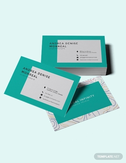 creative business card for fashion designer