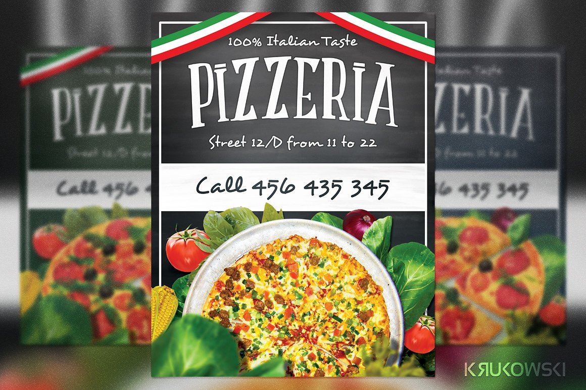 25 pizza flyer examples in word psd ai publisher