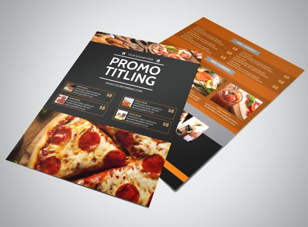 famous pizza menu flyer template 1