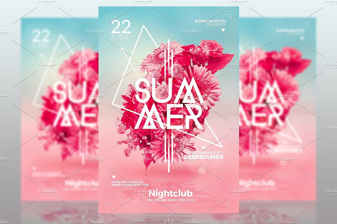 summer templates flyer