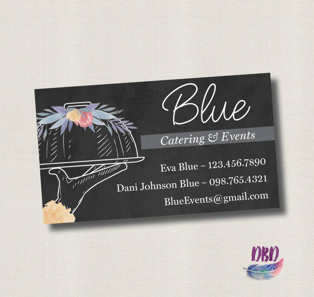 14 catering business card designs examples psd ai vector eps floral chalkboard catering business card reheart Images