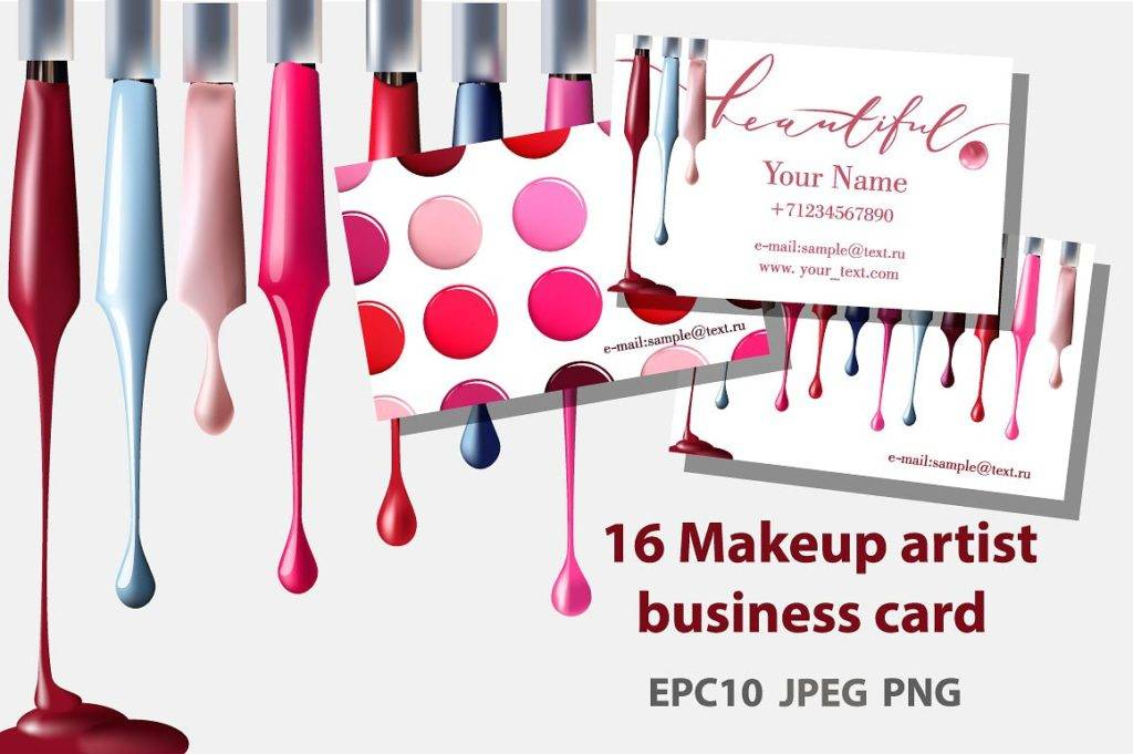 18 makeup artist business card designs examples psd ai vector eps business card reheart Choice Image