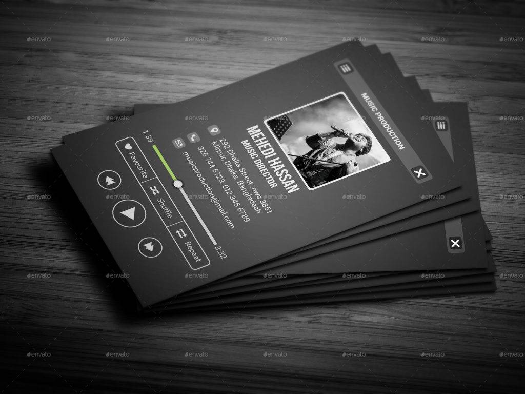 17 music business card designs examples psd ai vector eps customizable music business card colourmoves
