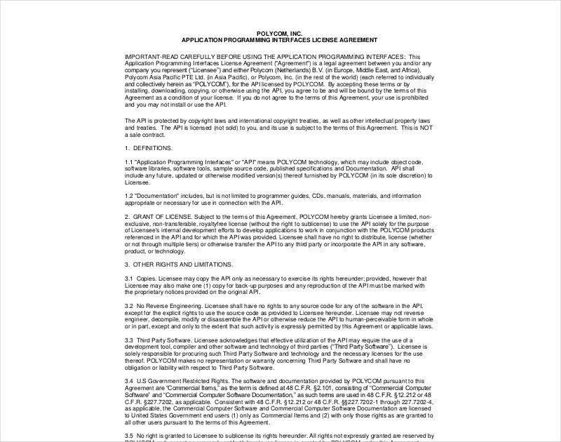 14 License Agreement Examples Pdf Doc