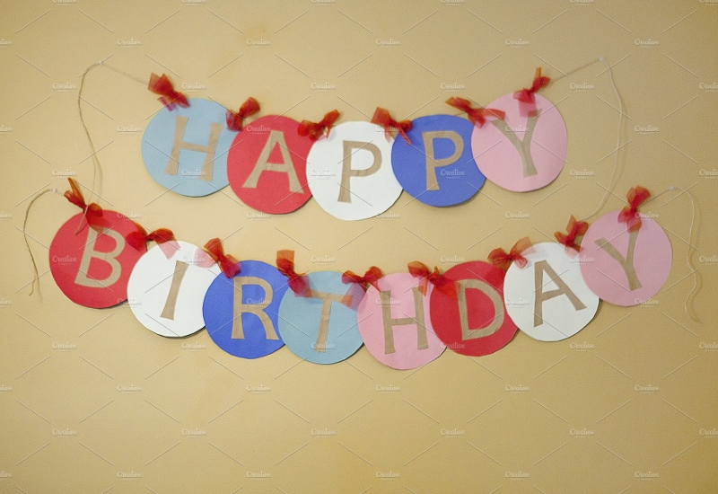 abstract birthday banner