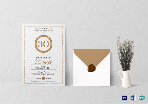 adult birthday party invitation template