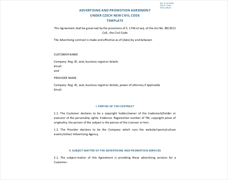 advertising and promotion agreement