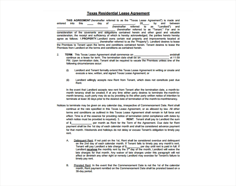 29 Lease Agreement Examples Pdf Docs Examples