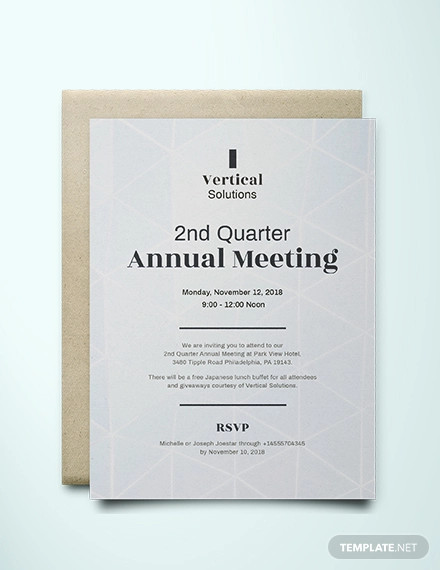 FREE 10+ Meeting Invitation Design Examples in Publisher