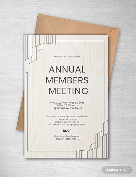 14+ Official Meeting Invitation Designs and Examples PSD
