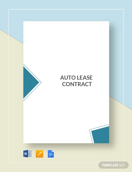 auto lease contract