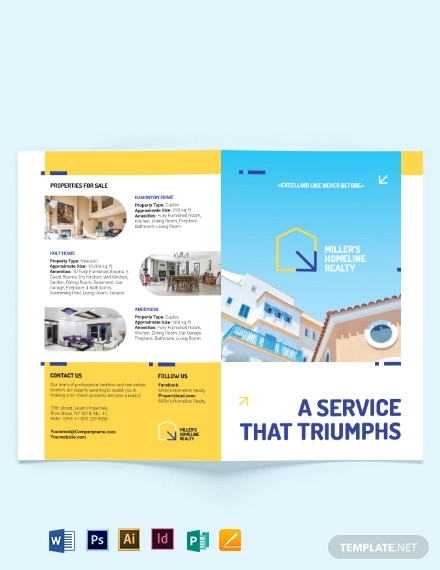 award winning realtor bi fold brochure template