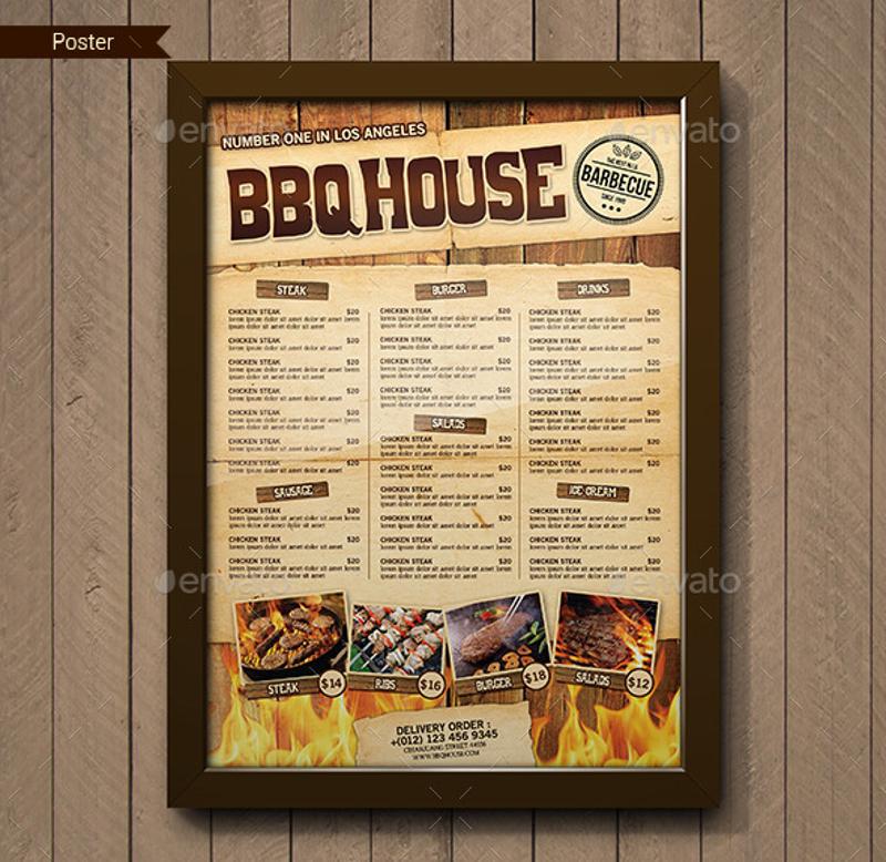 bbq house menu sample
