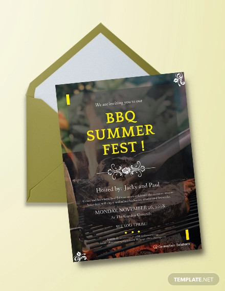 bbq invitation example