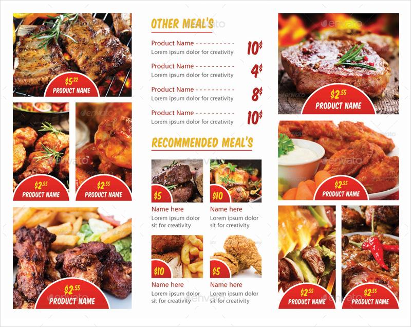 bbq tri fold menu