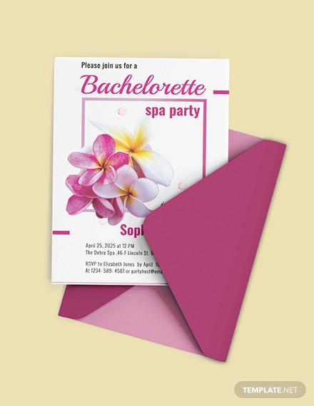 bachelorette spa party invitation template