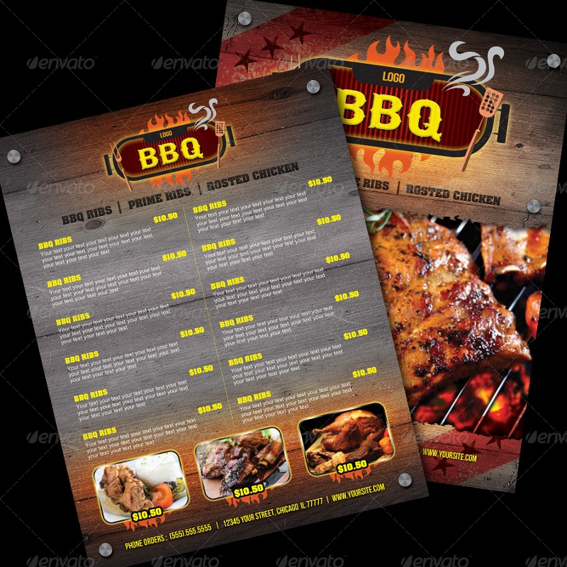 Free 12 Barbecue Menu Examples In Psd Ai Eps Vector