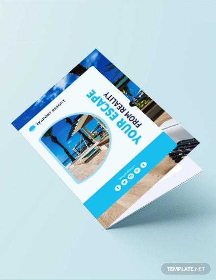 beach resort bi fold template