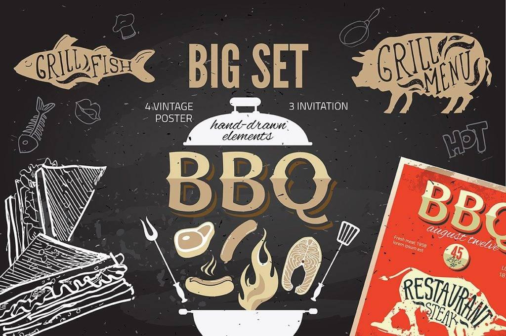 big barbecue set menu