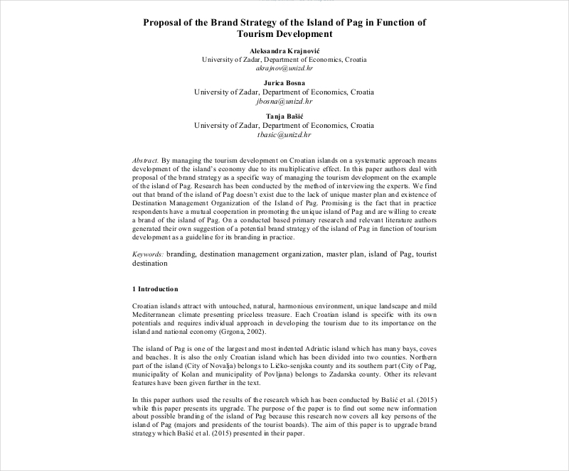 brand srtategy proposal