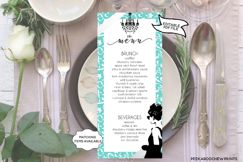 breakfast tiffanys brunch menu