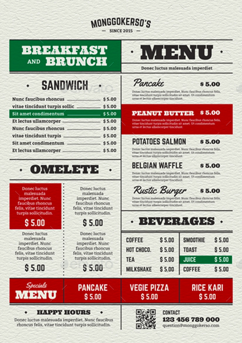 breakfast and brunch menu1