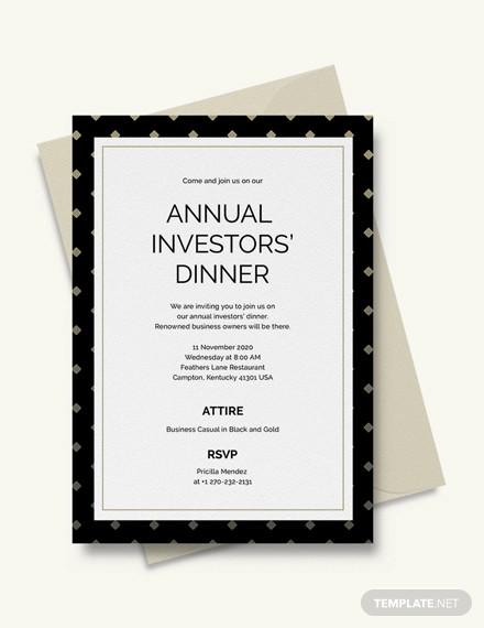 business dinner invitation design