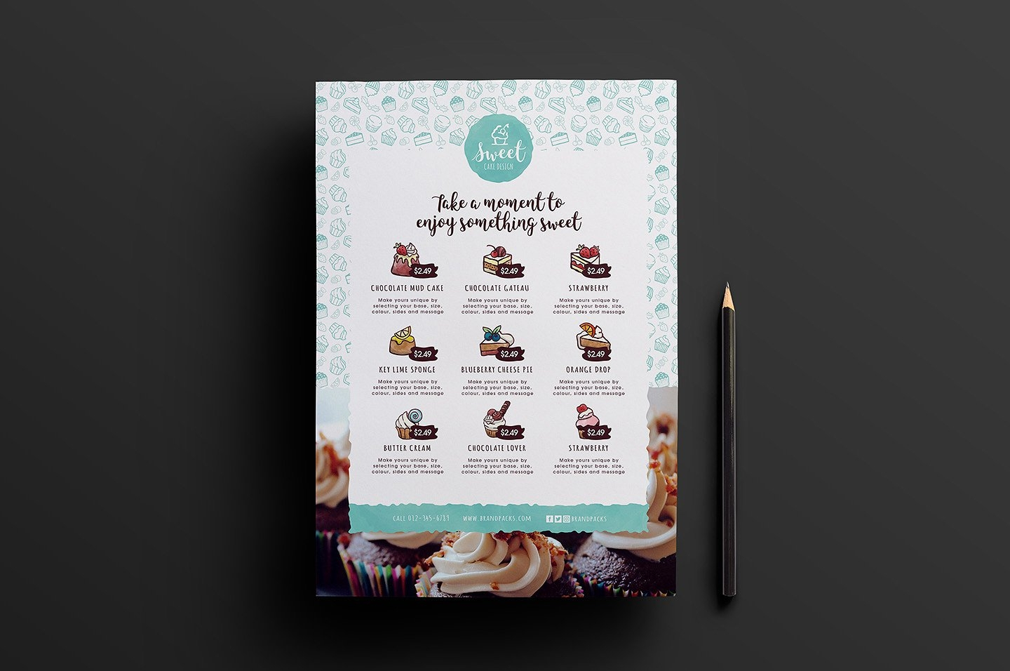 cakeshop menu design