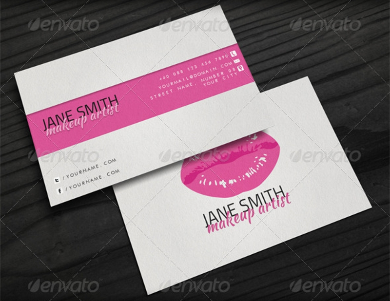 FREE 27+ Makeup Artist Business Card Designs \u0026 Examples in