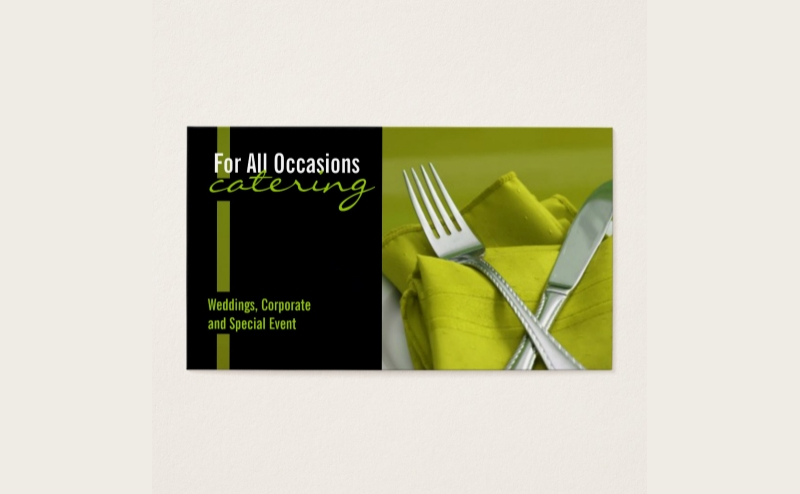 catering food business card